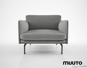 3D model Muuto Outline chair