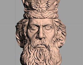 Chess King sculpture model W017 3D