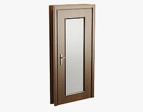 3D asset Realistic Wooden Door 001