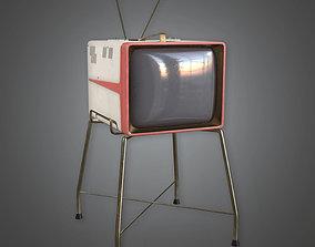 MCN - Retro Television Midcentury 22 - PBR Game 3D asset