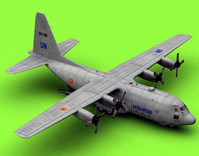 3D model C-130 UN Belgian Air Force