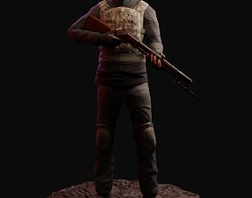 3D asset Game-Ready PBR Post-Apocalyptic Survivor