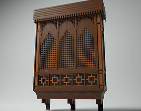 3D Islamic Window Mashrabiya