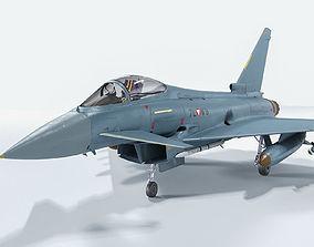 Eurofighter Typhoon 3D model rigged PBR