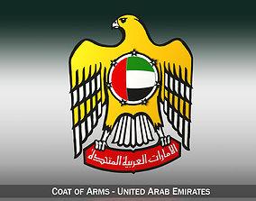 vae Emblem of the United Arab Emirates 3D