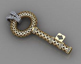 key necklace 3d unisex model
