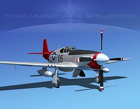 3D model North American P-51B Mustang V11
