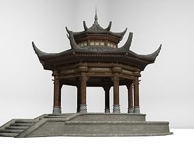 3D asset Ancient Architecture Octagonal Pavilion