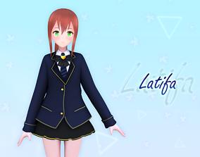 3D model Latifa V2 Original - VRChat and Game Ready