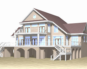 Summer Beach House Exterior 02 summer 3D