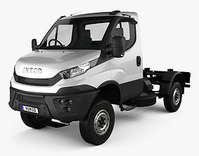 3D model Iveco Daily 4x4 Single Cab Chassis 2017