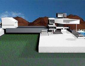 villa 3D asset