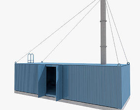 Incinerator Container Mobile Building 3D