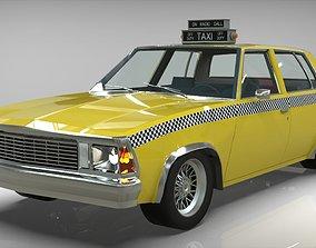 Taxi Chevrolet malibu1981 3D model