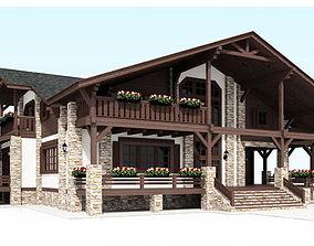 3D model Wooden House Mihail