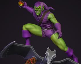 Green Goblin on glider - Spider-man villian 3D print model