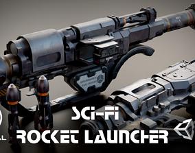 Sci-fi Rocket Launcher 3D model VR / AR ready