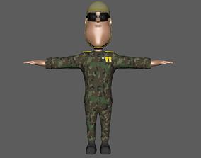 Soldier Rigging 3D asset rigged