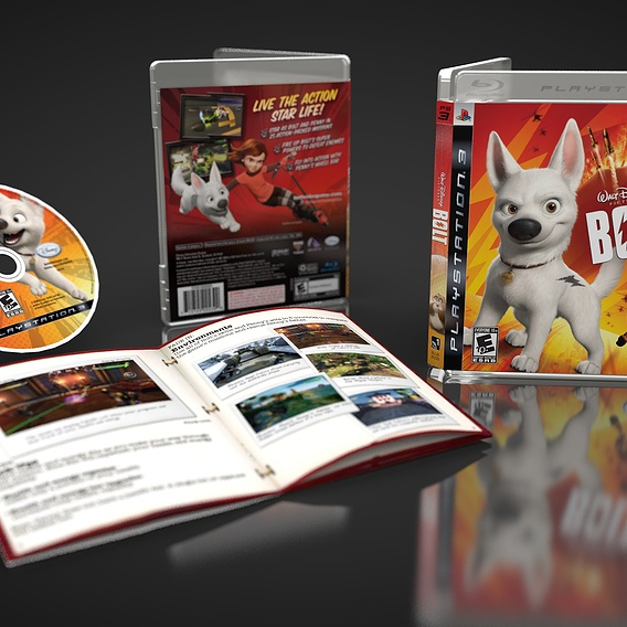Disney Bolt PS3 Packaging