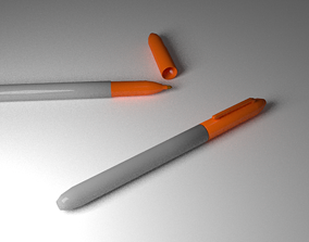 Orange Marker 3D asset