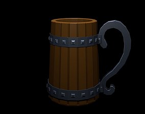 Low Poly Beer Mug 2 3D model