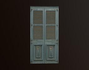 3D model game-ready Medieval Door 3 PBR