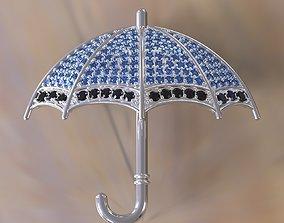 3D print model Brooch Umbrella