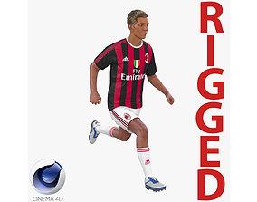 Soccer Player Milan Rigged 2 for Cinema 4D 3D model