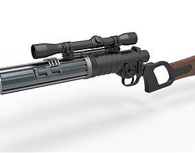 Boba Fett blaster carbine from The Mandalorian TV 3D model