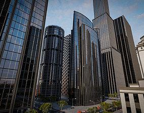 3D asset SKYSCRAPER CITY BUILDING 09