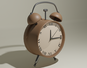 3D asset Tabletop Clock