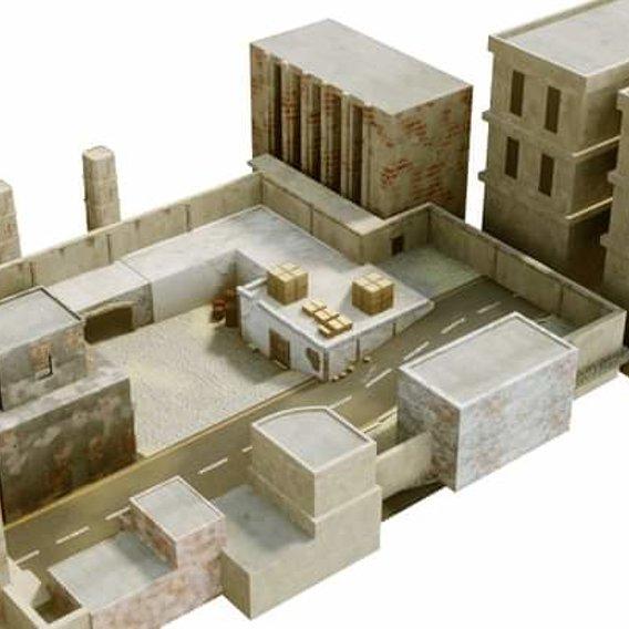 Rpg game environment 3d model