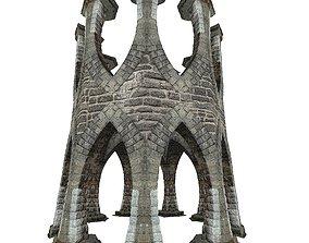 3D asset Gatehouse 01 Aqueduct Circle Pillar 04