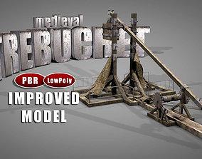 Medieval Trebuchet Catapult 3D model