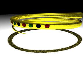 Golden ring 3D asset