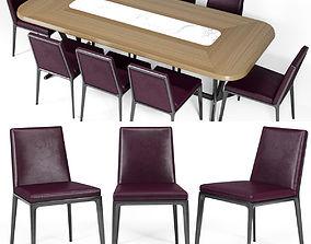 3D Bebitalia Maxalto Caratos chair Astrum table