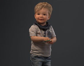 00022Pepijn006 Cute Toddler Boy 3D Model