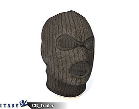 low-poly Ski Face Mask - Lowpoly Black Face Mask 3d model