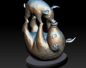 Pigs souvenir statuette for 3D print