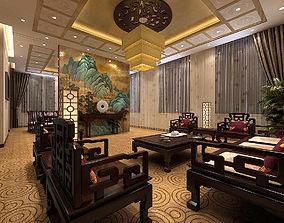 Business Restaurant - Coffee - Banquet 138 3D
