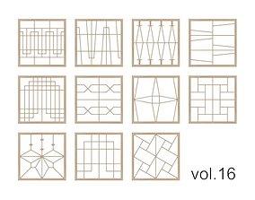 Kumiko Collection vol-16 3D model