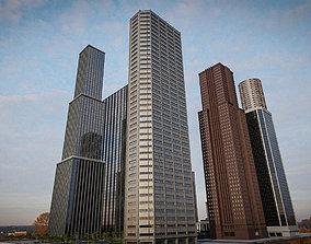 3D asset SKYSCRAPER CITY BUILDING 07