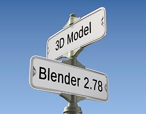 Retro Street Sign 3D model traffic-sign