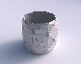 Bowl cylindrical with triangle plates 3D printable model