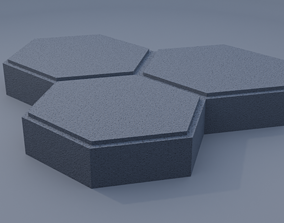 triple hexagon paving stone 3D print model