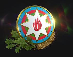 National emblem of Azerbaijan 3D model