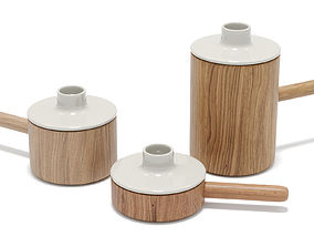 3D model Housewares - Ceramic Candlesticks - C4d native -