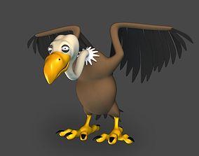 Cartoon Vulture 3D asset