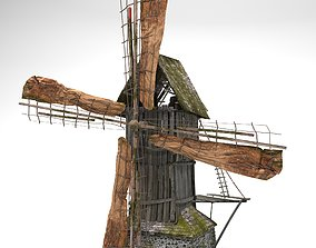 3D model game-ready Old windmill