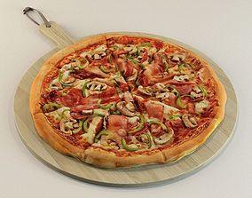 3D model Tasty italian pizza